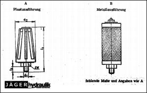 TGL 20737 Ausführungen von Orsta Pneumatik Schalldämpfern