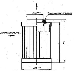 Größe eines Filterelements nach TGL 55092
