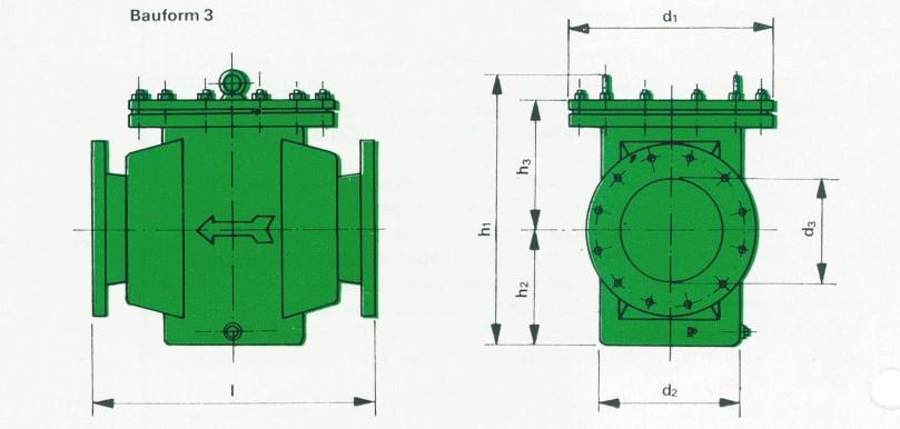 Orsta Micro-S-Filter mit Flanschanschluss (Bauform 3)