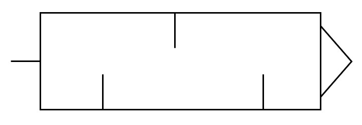 Symbol Schaltzeichen Pneumatik Schalldämpfer (Silencer)