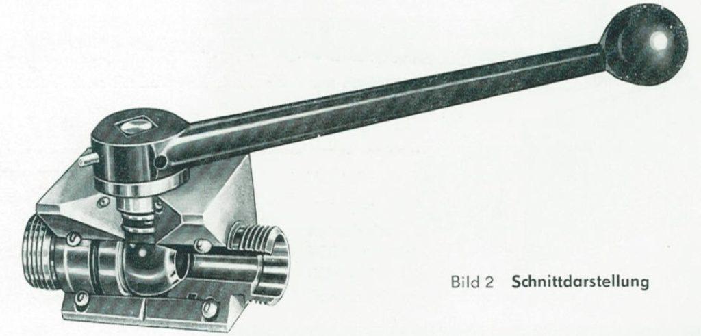 """TGL 21575 - Schnittdarstellung Orsta Hydraulik Absperrventile """"Kugelhähne"""""""