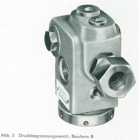 Bauform B der Druckbegrenzungsventile der TGL 10871