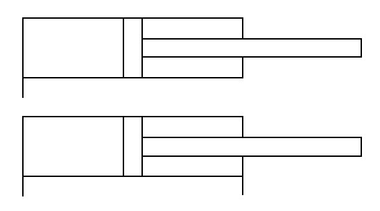 Einfachwirkende und Doppeltwirkende Hydraulikzylinder